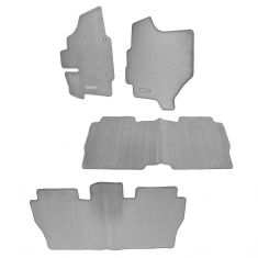 07-09 Nissan Quest Front & Rear Gray Carpeted ~QUEST~ Logoed Floor Mat Kit (Set of 4) (Nissan)