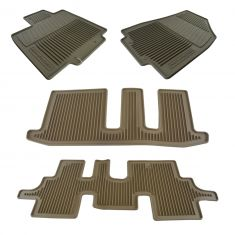 13-16 Pathfinder Molded Beige Rubber ~PATHFINDER~ Logoed All Weather Floor Mat Kit (Set of 4) (NS)