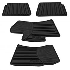 08-14 Impreza, WRX, WRX Sti; 09-13 Forester Mld Blk Rubber All Weather Floor Mat Kit (Set of 4) (SB)
