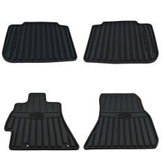 10-14 Legacy, Outback Mld Blk Rubber ~SUBARU~ Logoed All Weather Floor Mat Kit (Set of 4) (Subaru)