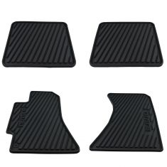 00-04 Legacy;, Outback; 03-06 Baja Mld Blk Rub ~SUBARU~ Logoed All Wthr Flr Mat Kit (Set of 4) (SB)