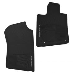 07-12 Toyota Tundra Front Black Rubber Floor Mat SET (Toyota)