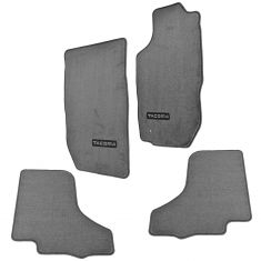 01-04 Tacoma Double Cab Embroidered ~TACOMA~ Light Gray Carpeted Floor Mat Kit (Set of 4) (Toyota)