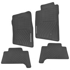 03-09 Toyota 4Runner Molded Black Rubber ~4Runner~ Logoed All Season Floor Mats (Set of 4) (Toyota)