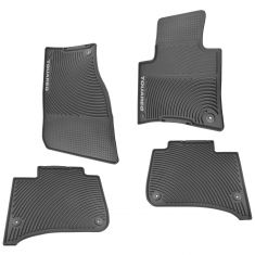 11-15 VW Touareg Black Rubber Molded ~TOUAREG~ Logoed ~Monster~ Floor Mats (Set of 4) (Volkswagen)