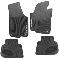 12-15 Passat NAR Mld Blk Rub ~PASSAT~ Logoed Round Clip Style Monster Floor Mat Kit (Set of 4) (VW)