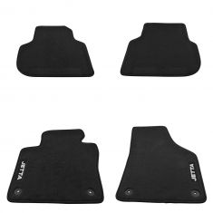 11-16 Jetta Sedan; 12-16 Jetta GLI Black Carpeted ~JETTA~ Logoed Floor Mat Kit (Set of 4) (VW)