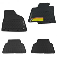 09-16 Volkswagen Tiguan Molded Black Rubber ~TIGUAN~ Logoed Monster Floor Mat Kit (Set of 4) (VW)