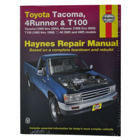 toyota 4runner t100 tacoma haynes repair manual 1amnl00048 at 1a rh 1aauto com 1998 Toyota Pickup 1990 Toyota Pickup