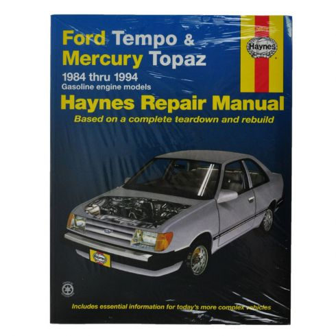 1984 94 ford tempo mercury topaz haynes repair manual 1amnl00099 rh 1aauto com Car Owners Manual 1993 ford tempo owners manual
