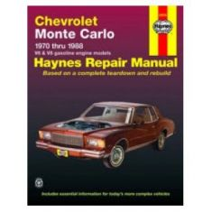 1970-88 Chevy Monte Carlo Haynes Repair Manual