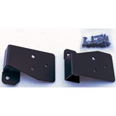 Mirror Relocation Brackets, Black, 03-06 Jeep Wrangler