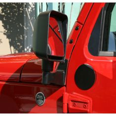 Mirror Relocation Brackets, Black, 07-14 Jeep Wrangler (JK)