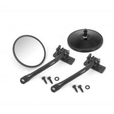 Quick Release Mirror Relocation Kit, Black, 97-14 Jeep Wrangler