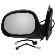 1997-02 Power Mirror Black w/ Chrome LH