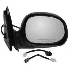 1997-02 Power Mirror Black w/ Chrome RH