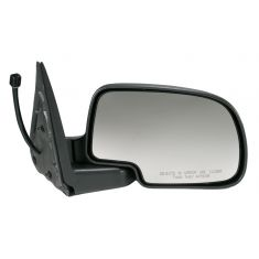 00-06 GM Truck Power Mirror Heated Pud Txted Blk R