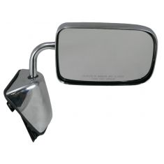 88-93 Dodge Ram Charger Pickup Mirror Chrome Folding Manual RH