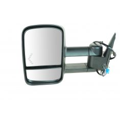 03-07 GM Truck SUV Pwr Htd Turn Signal Dual Arm Xtendable Towing Mirror LH (TR)