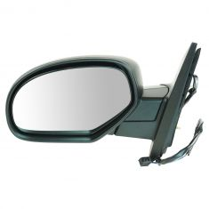 07-11 GM Truck Power Heated Blk Text Cap Mirror LH