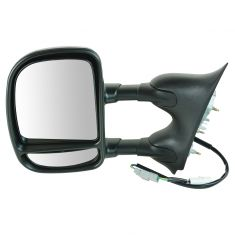99-07 Ford Truck Pwr Dual Swing Arm Tow Mirror LH (TR)