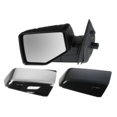 2006-10 Ford Explorer; 2007-10 Sport Trac Pwr Puddle Light Mirror LH (Chrme & PTM Caps)