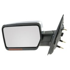 2007-08 Ford F150, Lincoln Mark LT Power Heated w/Turn Signal & Chrome Cover Mirror LH