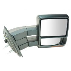 07-12 F150 Power Heated w/Memory, Turn Signal, Puddle Light Dual Arm Towing Textured Cap Mirror RH