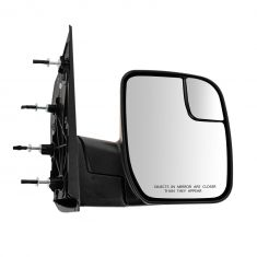 10-13 Ford Van (w/Integrated Spotter) Textured Black Manual Mirror RH