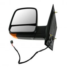 08-12 GM Full Size Van Power Heated w/TS Black Textured Mirror LH