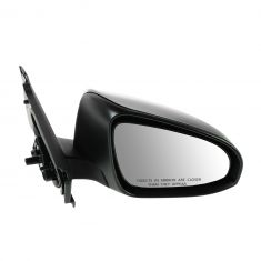 12-13 Toyota Yaris Hatchback Manual Textured Black Mirror RH