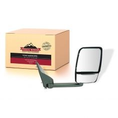 03-17 Chevy Express, GMC Savana Van Single Arm, Dual Glass Textured Black Manual Tow Mirror RH (TR)