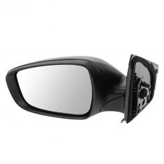 12-13 Hyundai Accent Power Textured Black Mirror LH