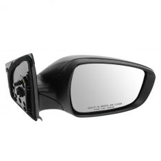 12-13 Hyundai Accent Power Textured Black Mirror RH