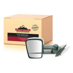 14-17 Chevy Silverado, GMC Sierra 1500,2500,3500 Textured Black Manual Tow Mirror LH (TR)