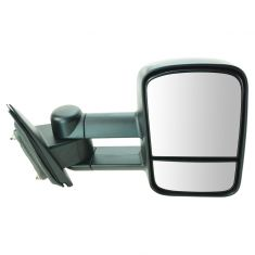 14-15 Chevy Silverado, GMC Sierra 1500, 2500, 3500 Textured Black Manual Telescoping Tow Mirror RH