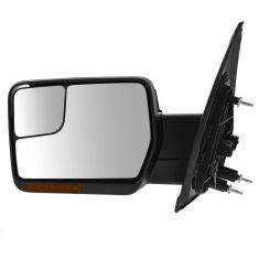 04-08 F150 Pwr Fld, Dual Htd Glass, Dual LED Turn Signl, PL, Chrm & Txt Caps Mirror LH (Upgrade)