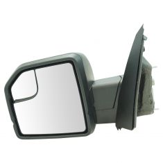 15-17 F150 Power Heated, Dual Glass, LED Turn Signal w/Dual Text Caps UPGRADE Mirror LH