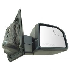 15-17 F150 Power Heated, Dual Glass, LED Turn Signal w/Dual Text Caps UPGRADE Mirror RH