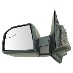 15-17 F150 Dual Glass (w/Spotter Glass) Manual w/Dual Textured Caps UPGRADE Mirror LH