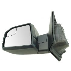 15-17 F150 Dual Glass (w/Spotter Glass) Power w/Dual Textured Caps UPGRADE Mirror LH