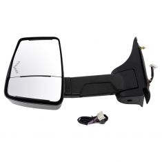 03-17 Express, Savana Cut-Away Van Power w/Dual Htd Glass, LED Turn Signal Text Black Tow Mirror LH