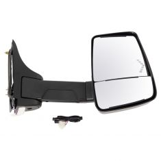 03-17 Express, Savana Cut-Away Van Power w/Dual Htd Glass, LED Turn Signal Text Black Tow Mirror RH