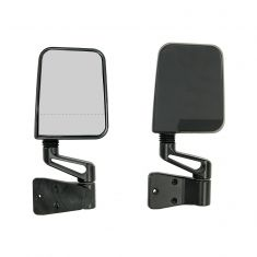 Door Mirror Kit, Dual Focus, Black, 87-02 Jeep Wrangler