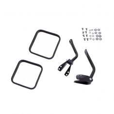 Side Mirror Kit, Black, 55-86 Jeep CJ Models