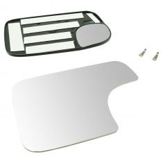 94-08 Ram 1500; 94-08 2500, 3500; 05-15 Tacoma (w/TS on CC Head) Tow Mirror Dual Glass w/Mtg Plte LH