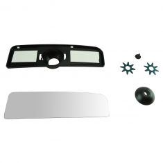 07-16 Toyota Tundra (w/OE & CC Head) Lower Convex Tow Mirror Glass w/Mounting Plate LH