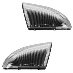 09-13 Dodge Ram 1500; 10-13 2500, 3500 Mirror Mounted Clear Turn Signal Lens & Housing PAIR (Mopar)