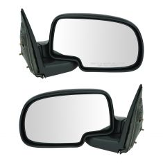 1999-07 Chevy CK Truck Manual Mirror Black Pair