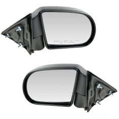 1998-04 Chevy S10 Manual Mirror Black Pair